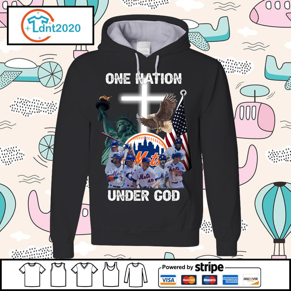New York Mets one nation under God s hoodie