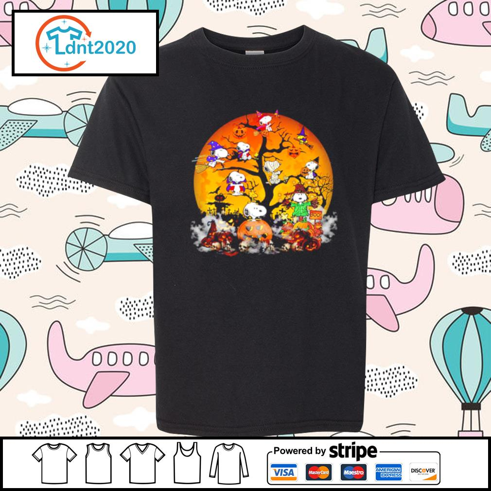 Peanuts Snoopy Halloween tree s youth-tee