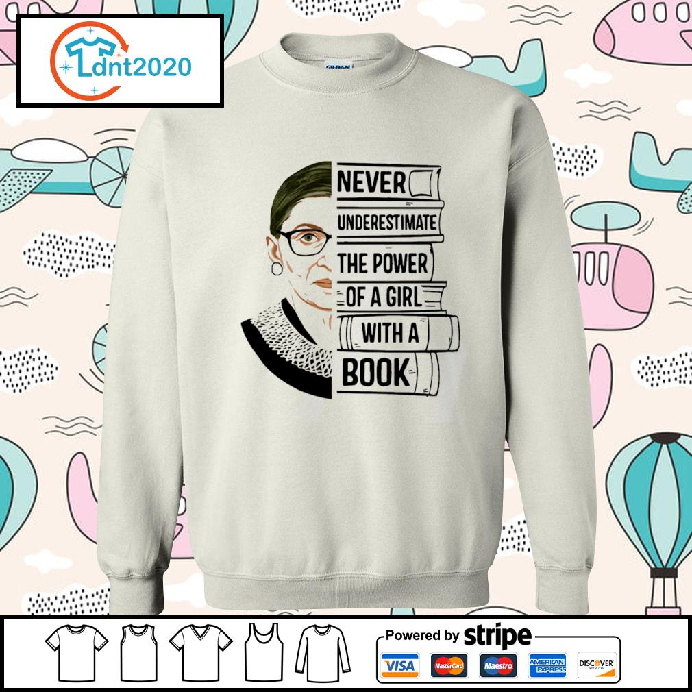 Ruth Bader Ginsburg never underestimate the power of a girl with a book s sweater