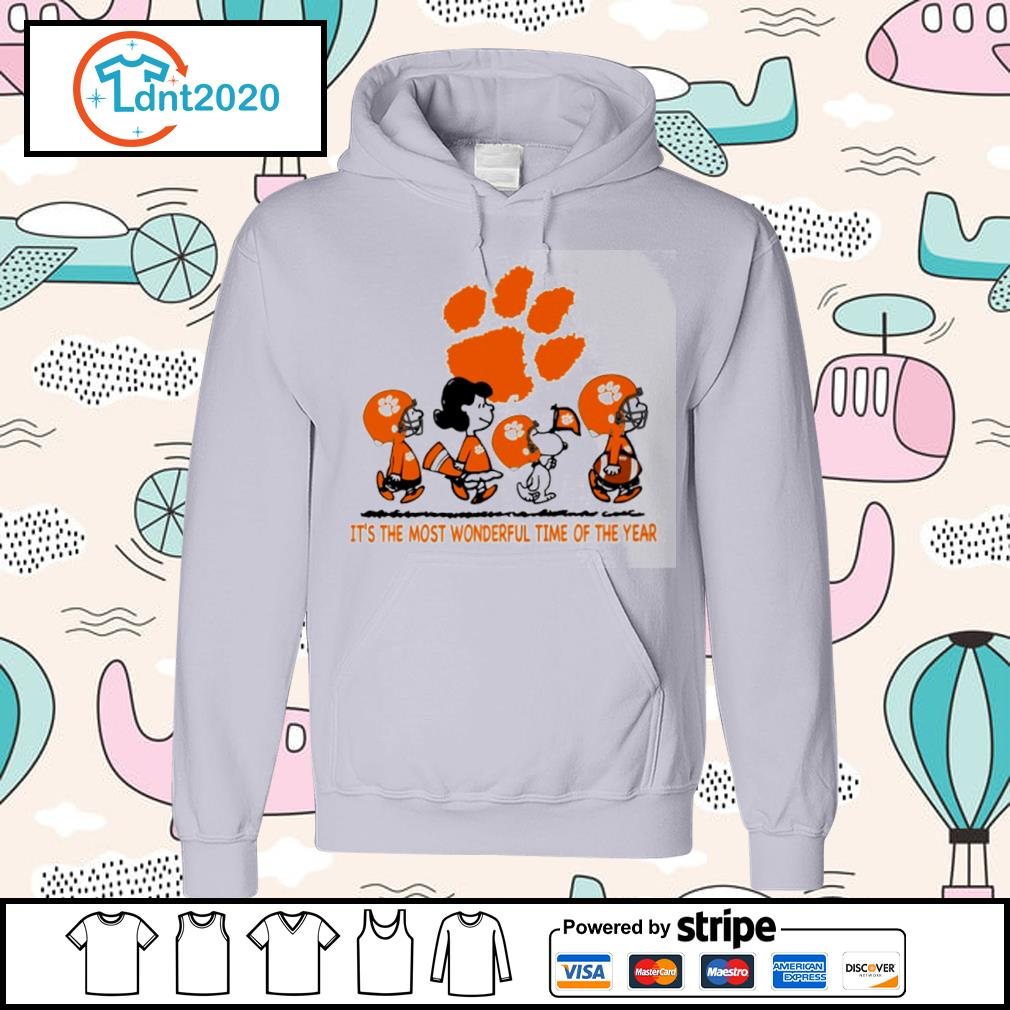 Snoopy and friends Clemson Tigers it's the most wonderful time of the year s hoodie