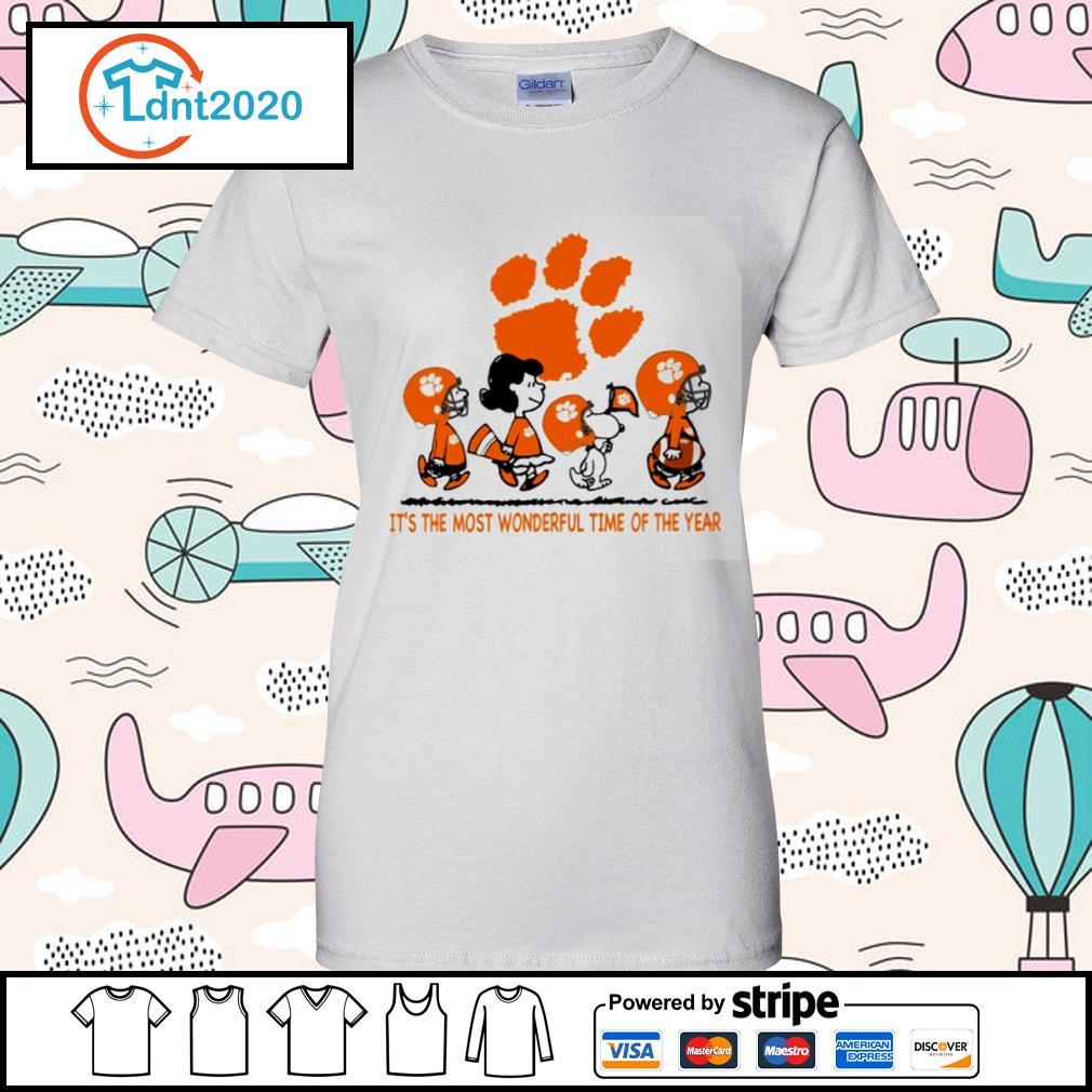 Snoopy and friends Clemson Tigers it's the most wonderful time of the year s ladies-tee