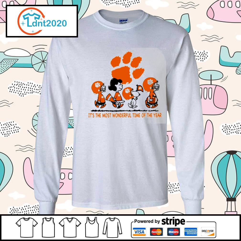 Snoopy and friends Clemson Tigers it's the most wonderful time of the year s longsleeve-tee