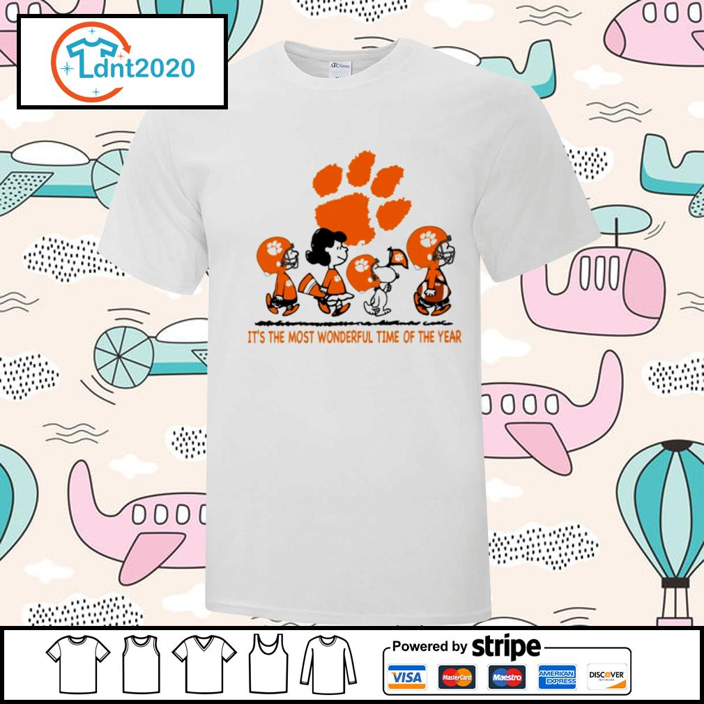 Snoopy and friends Clemson Tigers it's the most wonderful time of the year shirt
