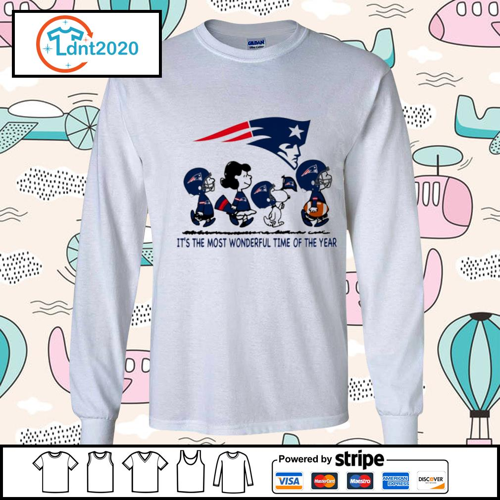 Snoopy and friends New England Patriots it's the most wonderful time of the year s longsleeve-tee
