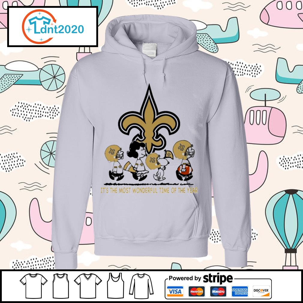 Snoopy and friends New Orleans Saints it's the most wonderful time of the year s hoodie