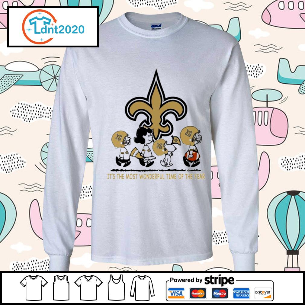 Snoopy and friends New Orleans Saints it's the most wonderful time of the year s longsleeve-tee