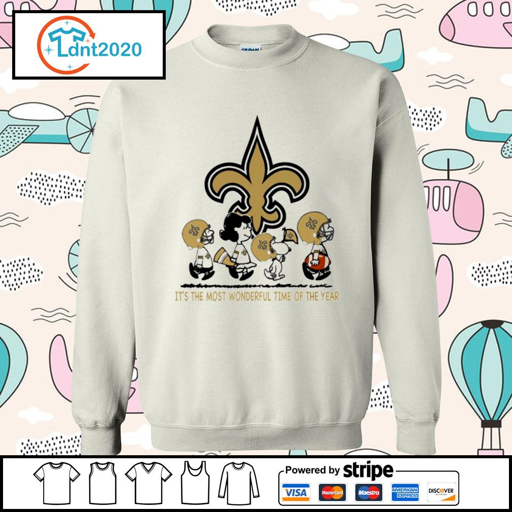 Snoopy and friends New Orleans Saints it's the most wonderful time of the year s sweater