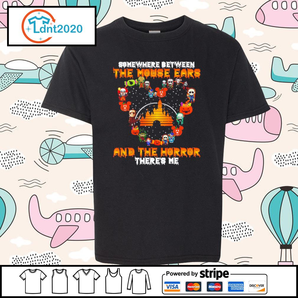 Somewhere between the Mouse Ears and the horror there's me s youth-tee