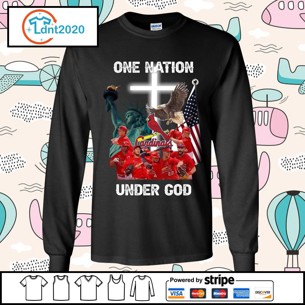 St. Louis Cardinals one nation under God s longsleeve-tee