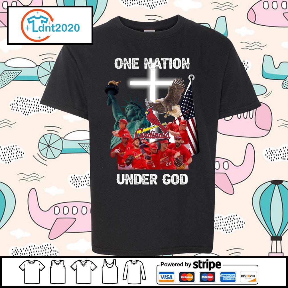 St. Louis Cardinals one nation under God s youth-tee