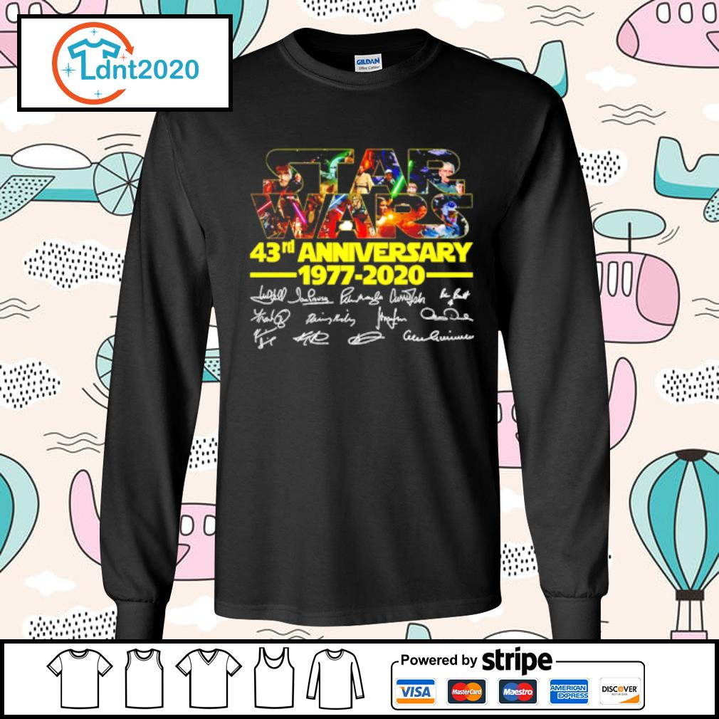 Star Wars 43rd anniversary 1977-2020 characters signatures s longsleeve-tee