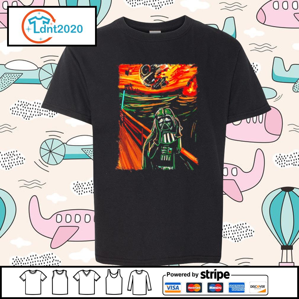 Star Wars Darth Vader The Scream old art painting s youth-tee