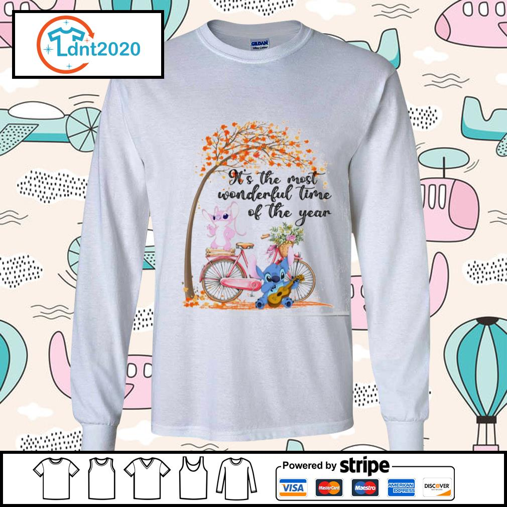 Stitch and Angel it's the most wonderful time of the year s longsleeve-tee