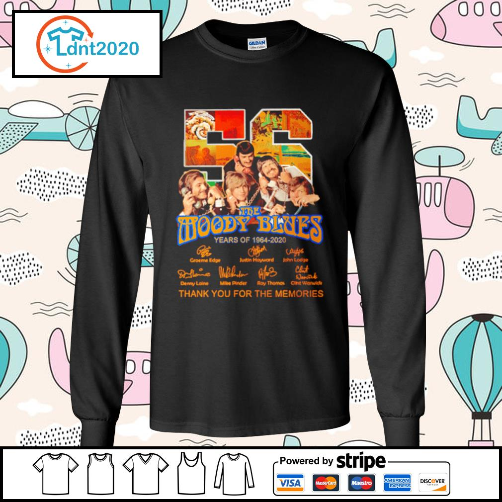 The Moody Blues 56 years of 1964-2020 thank you for the memories s longsleeve-tee