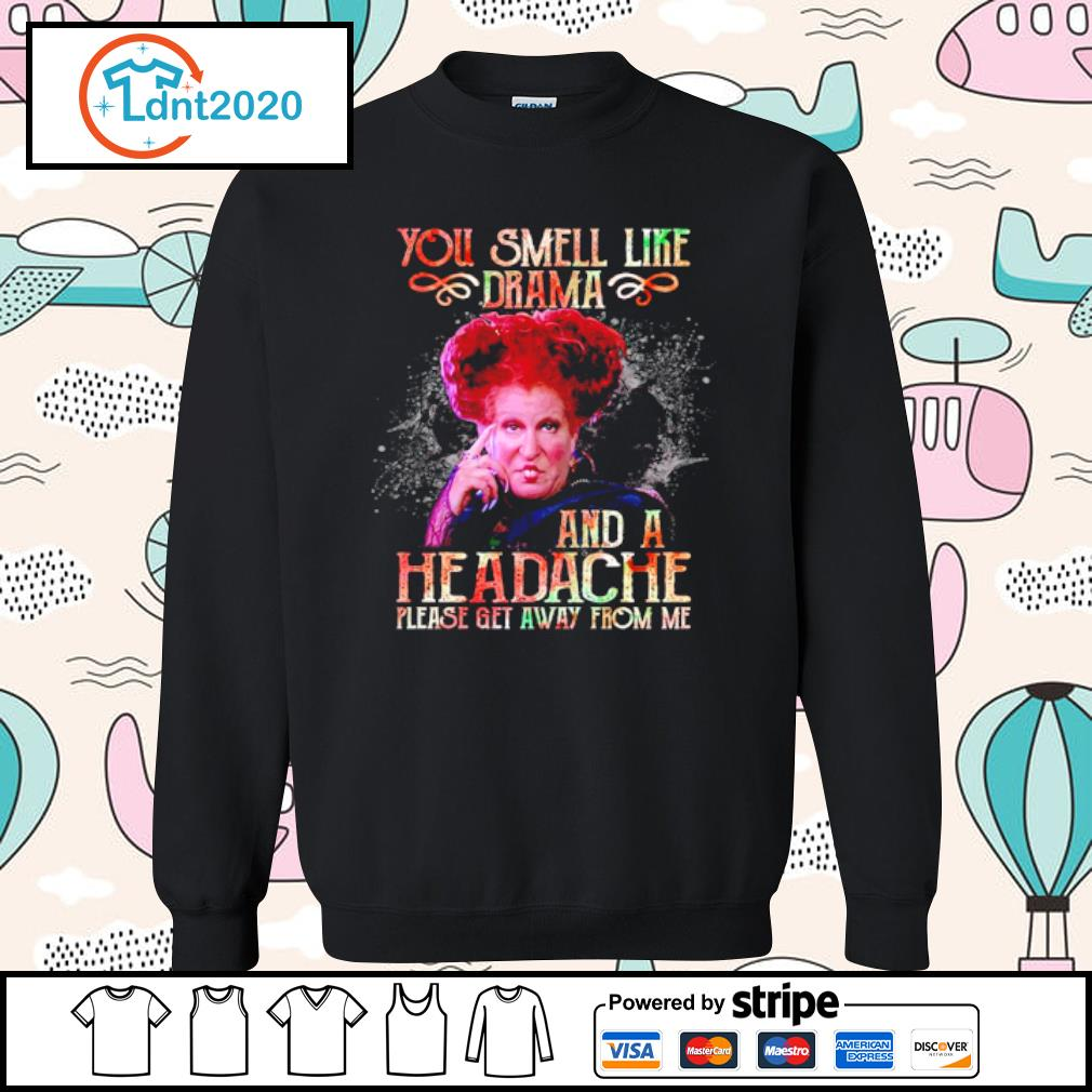 Winifred Sanderson you smell like drama and a headache please get away from me s sweater