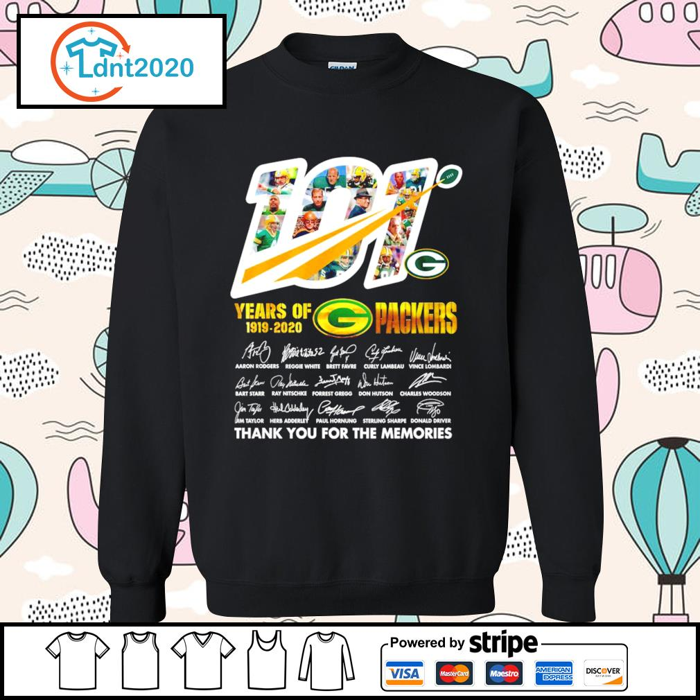 101 years of Packers 1919-2020 thank you for the memories s sweater