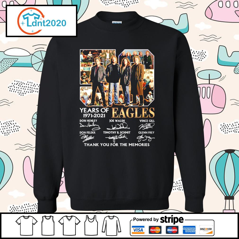 50 years of Eagles 1971-2021 thank you for the memories s sweater
