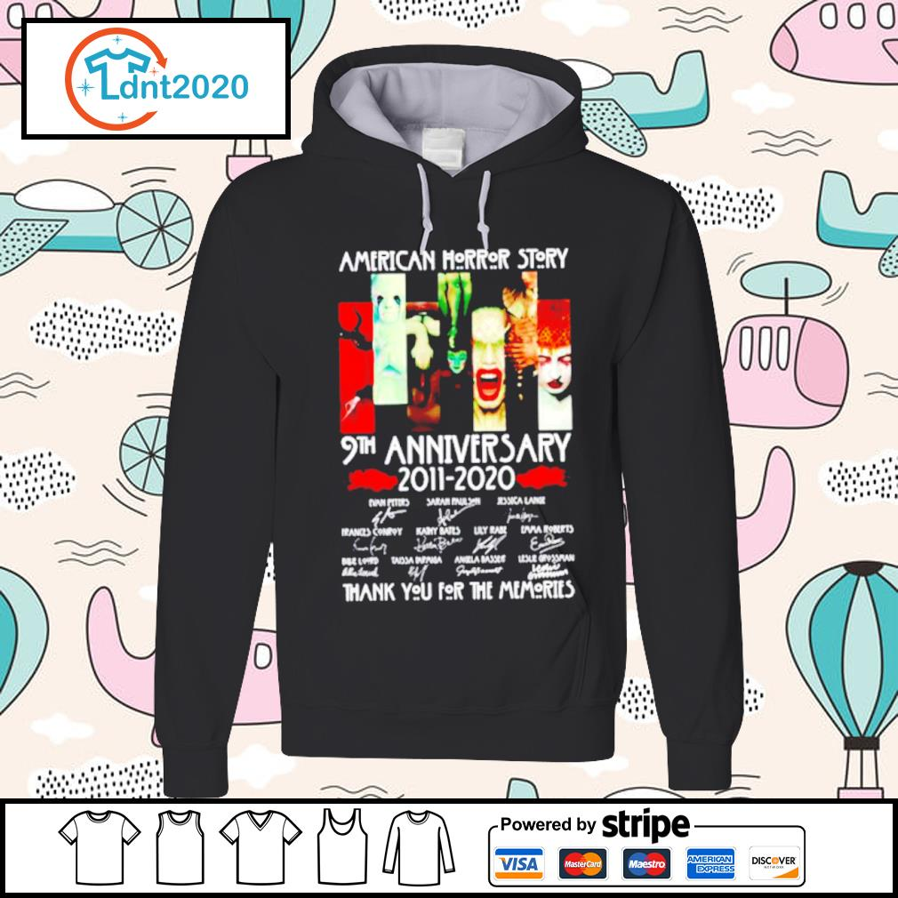 American horror story 9th anniversary 2011 2020 thank you for the memories s hoodie