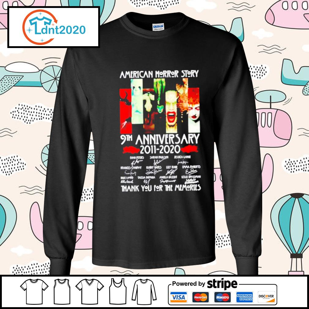 American horror story 9th anniversary 2011 2020 thank you for the memories s longsleeve-tee