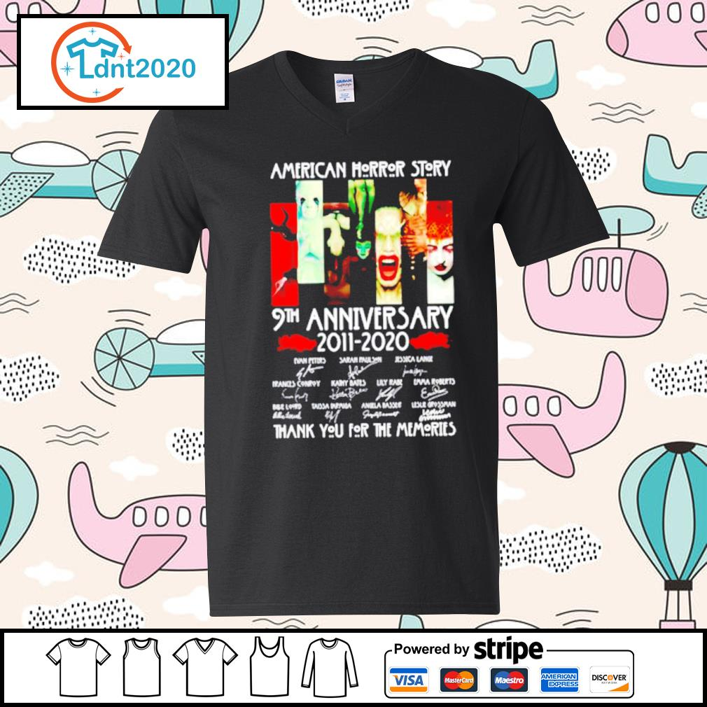 American horror story 9th anniversary 2011 2020 thank you for the memories s v-neck-t-shirt