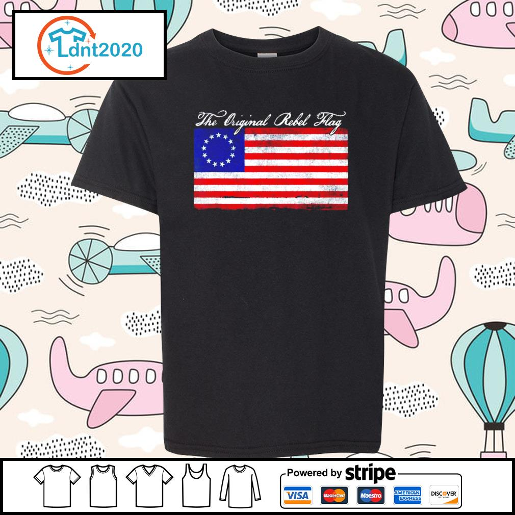Betsy Ross the original rebel flag s youth-tee