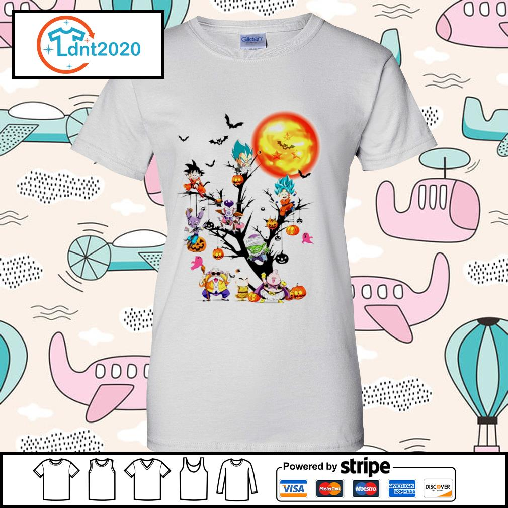 Dragon Ball Halloween tree s ladies-tee