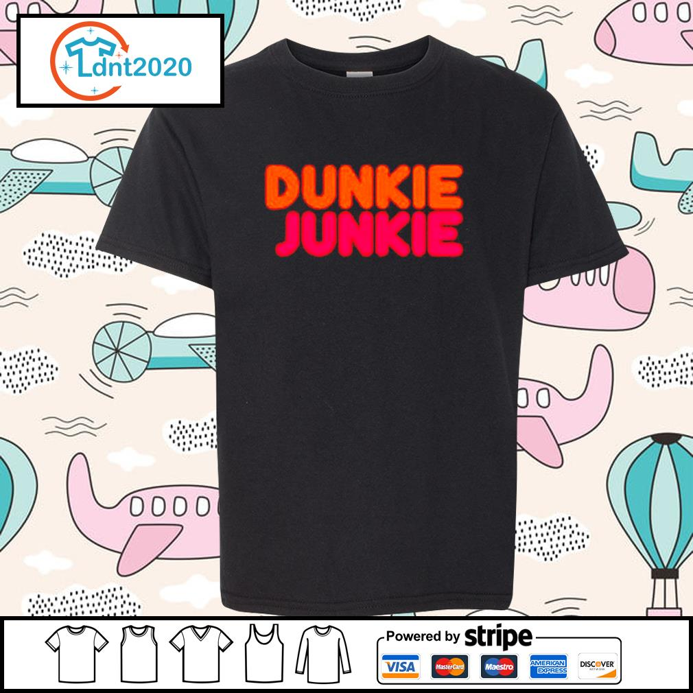 Dunkie Junkie Dunkin Donuts s youth-tee