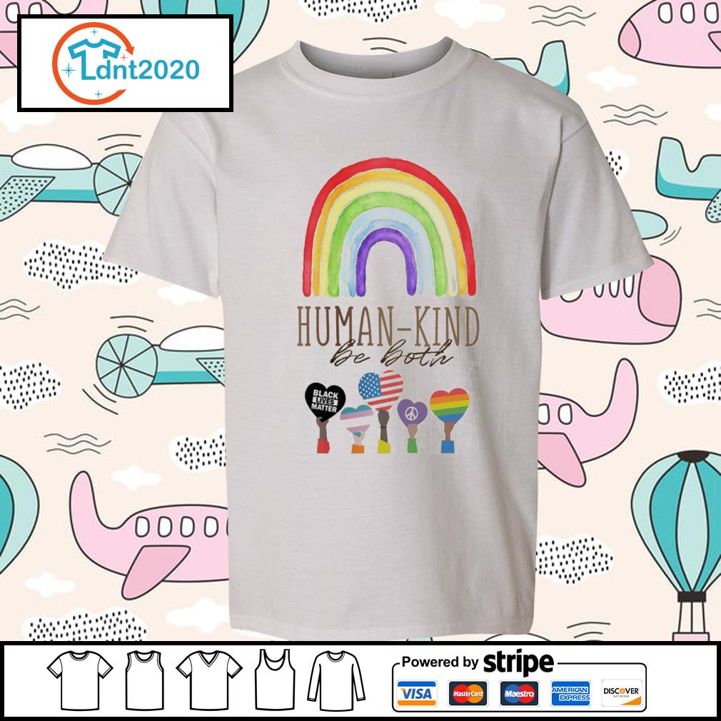 Rainbow Humankind be both black lives matter s youth-tee