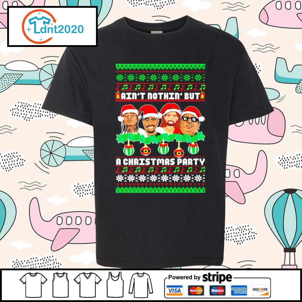 Rap Legends ain't nothin' but a Christmas party ugly Christmas s youth-tee