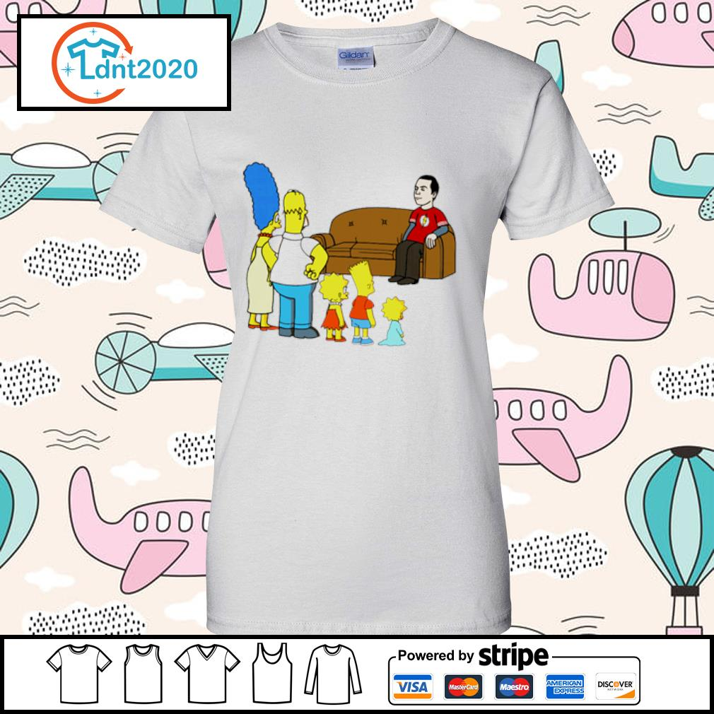 The Simpsons family X The Big Bang Theory s ladies-tee