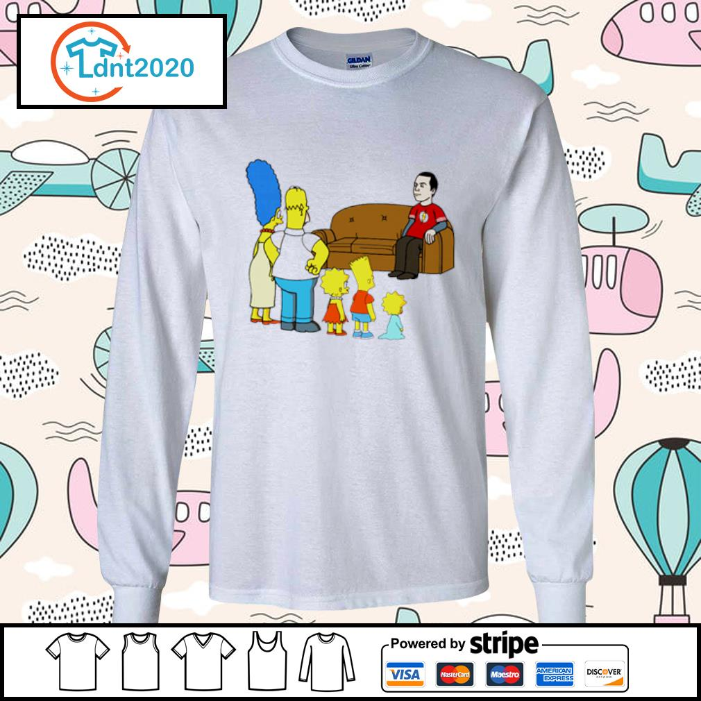 The Simpsons family X The Big Bang Theory s longsleeve-tee