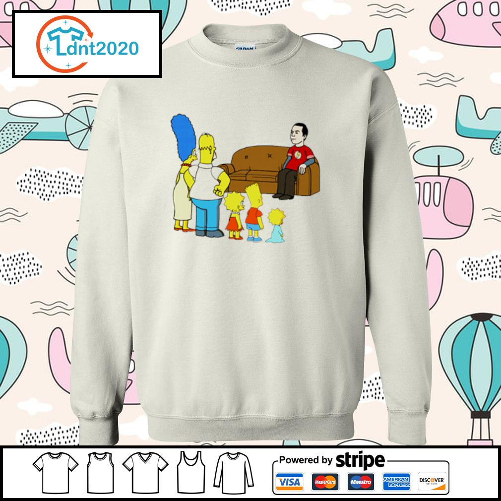 The Simpsons family X The Big Bang Theory s sweater